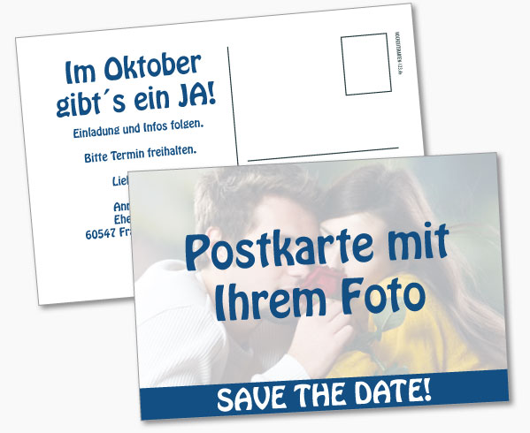 Save the Date mit eigenem Foto